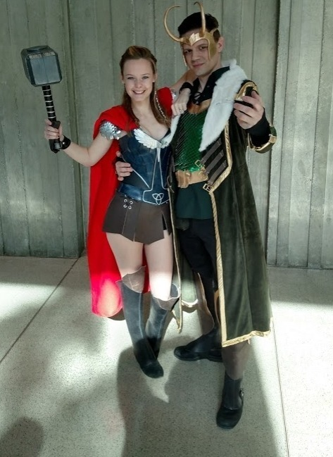 Female Thor and Loki at ECCC 2019 (Unknown Cosplayers)