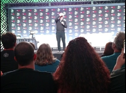 George Takei greeting the crowd at Emerald City Comic Con, March 15, 2019.