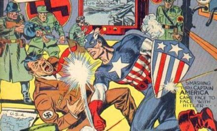 Captain America Punching Hitler from Captain America Comics #1