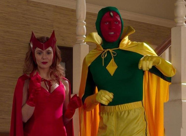 Scarlet Witch and Vision from WandaVision Episode 6