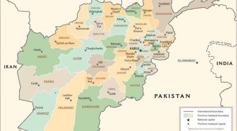 Afghanistan Province Map-CIA