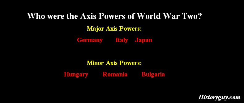 Who Were the Axis Powers?