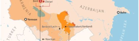 Map of Armenia-Azerbaijan Conflict