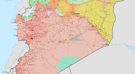 Syria War Map August 2020-Source Wikipedia