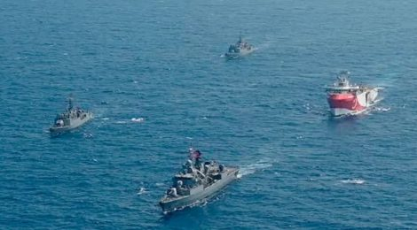 Turkish Navy Escorting Oruc Reis