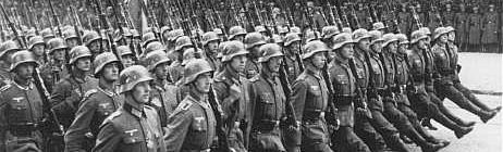 German Troops Parading in Conquered Poland-1939