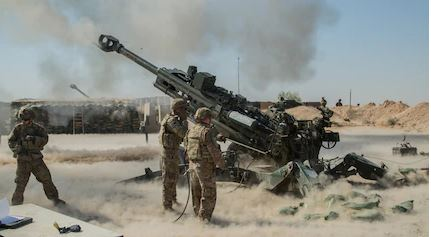 US Army Artillery Targeting ISIS in Iraq 2019