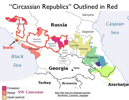 Sochi and Caucasus Region Map