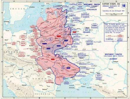 Operation Barbarossa Map 1941