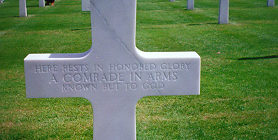 Known But To God-Unknown Soldier's Grave at Normandy