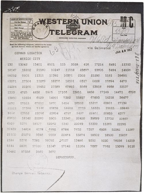 Zimmerman Telegram-Coded Version